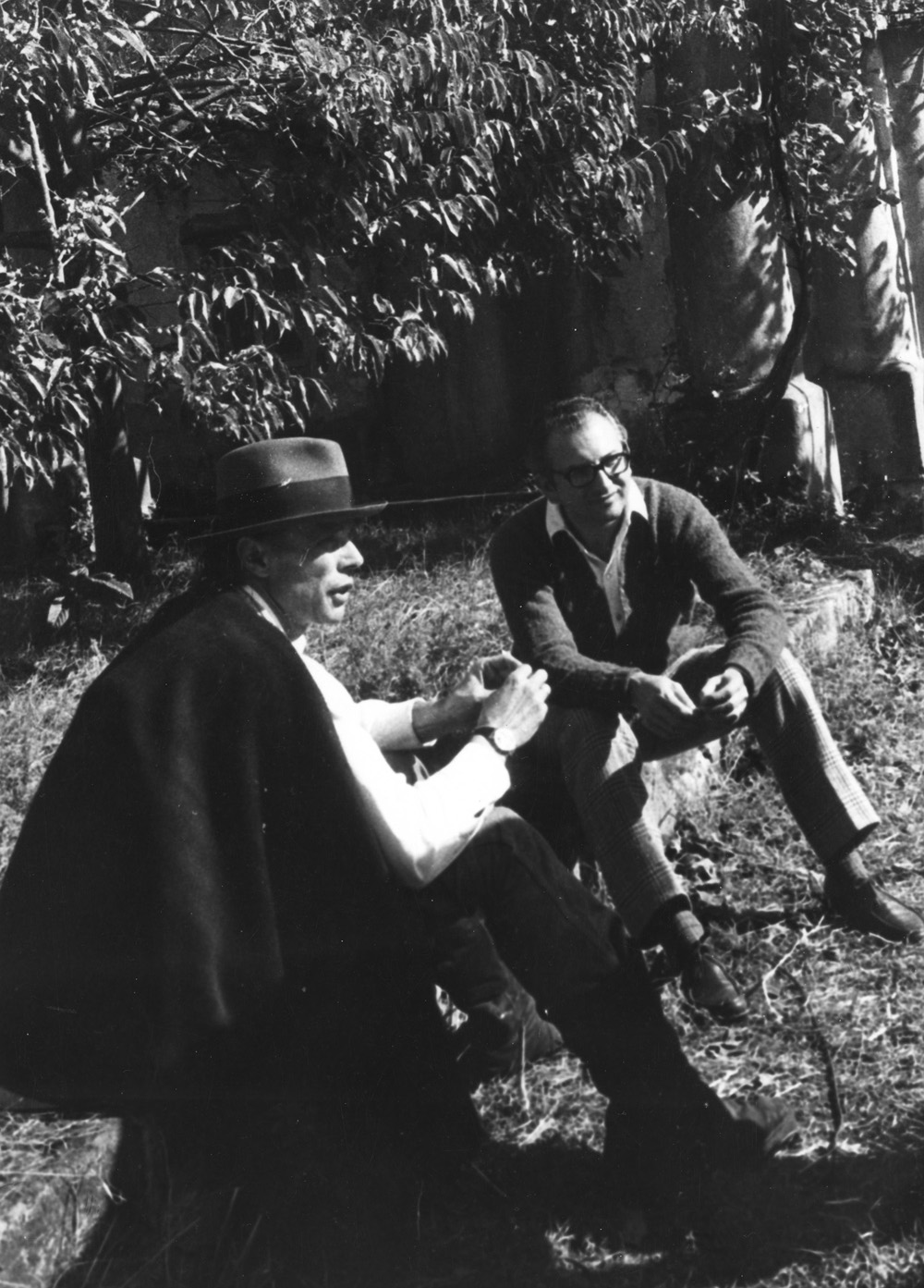 Joseph Beuys and Pasquale Trisorio at Villa Orlandi, 1971