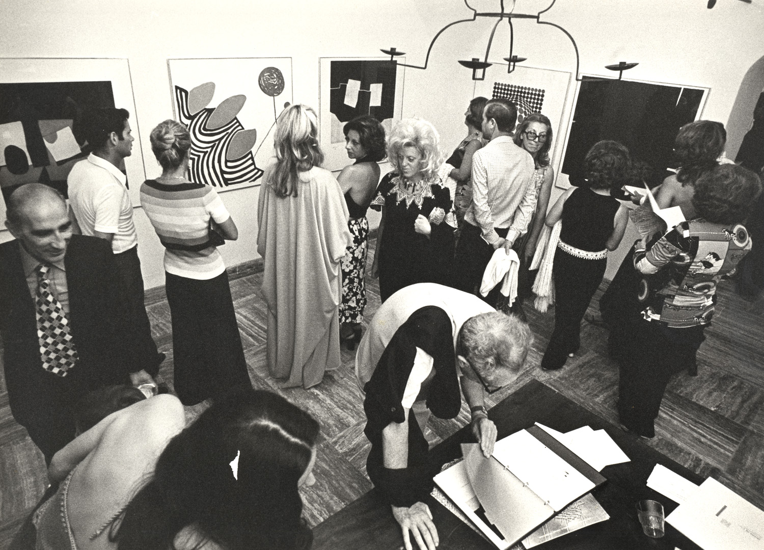 Villa Orlandi, Mostra di Grafica (Graphic Art Exhibition), 1973 (Photo Luciano D'Alessandro)