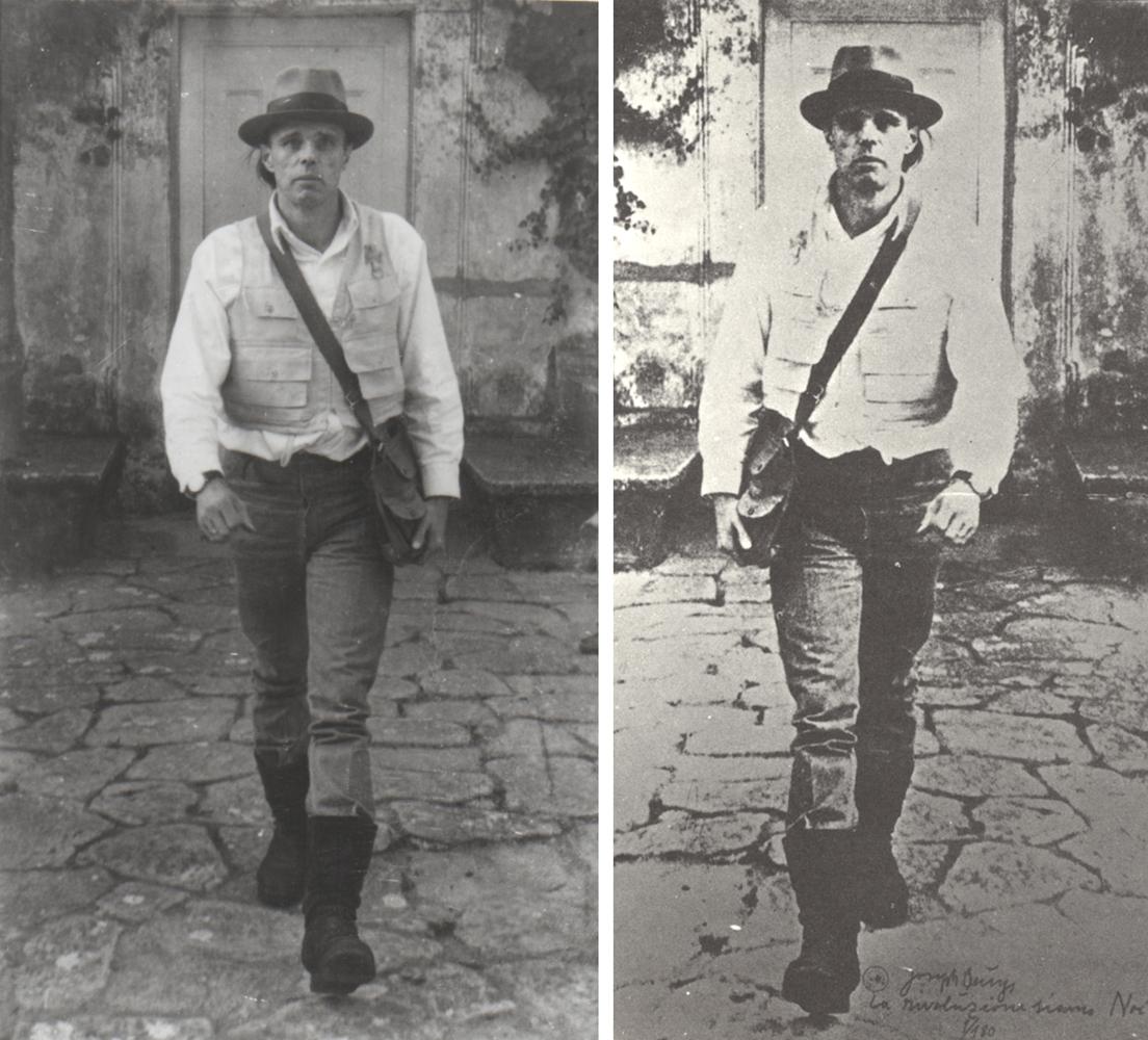 Joseph Beuys, Casa Orlandi,1971serigrafia su pellicola, pezzo unico,(Silkscreen on film, unique piece), Joseph Beuys,La Rivoluzione siamo noi, 1971,copia eliografica (Blueprint), ed 1/180