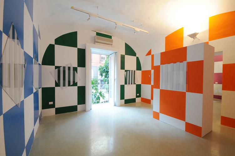 Daniel Buren,  Oggi qui. Lavori in situ,  18 settembre 2008, Napoli