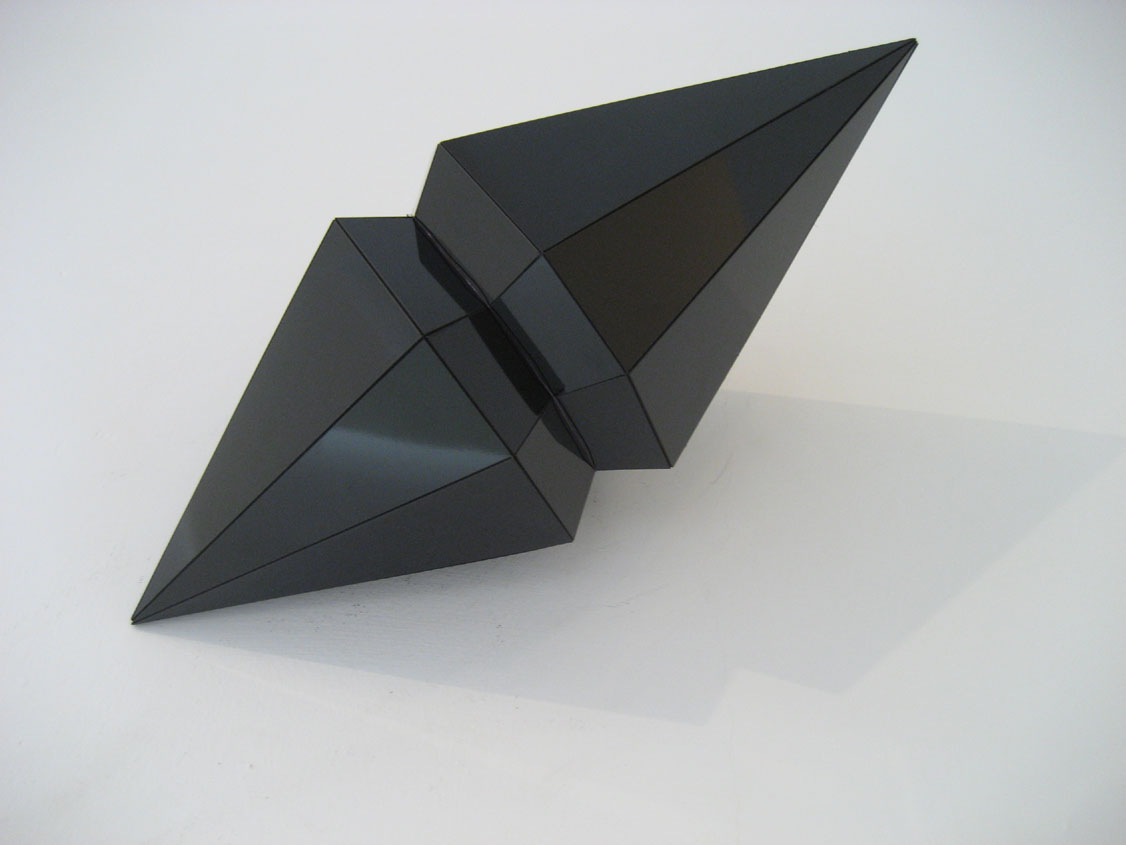 Eleanor & James Avery,  Double Diamond ,laminate on plywood  cm 34x18x18
