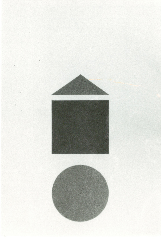 """Ettore Spalletti, 1994, Composizione dalla mostra """"L'uovo da bere"""" , intervento a matita su litografia"""