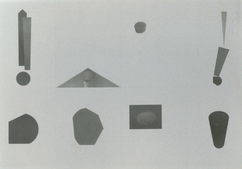"""Ettore Spalletti, 1994, Composizione dalla mostra """"L'uovo da bere"""" , intervento a matita su litografia, cm 64x96"""