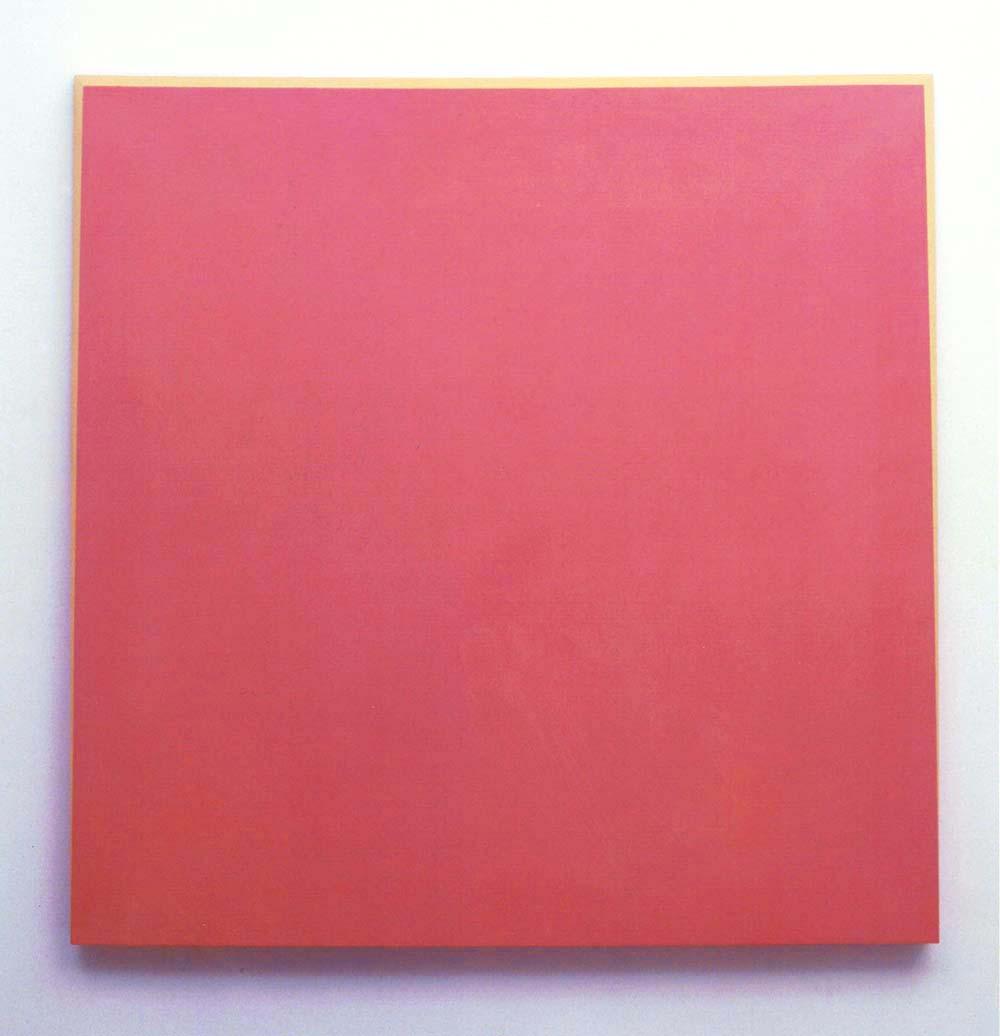 Ettore Spalletti, 2004, Rosso Porpora, Oro , impasto di colore su tavola, foglia d'oro, cm 100x100