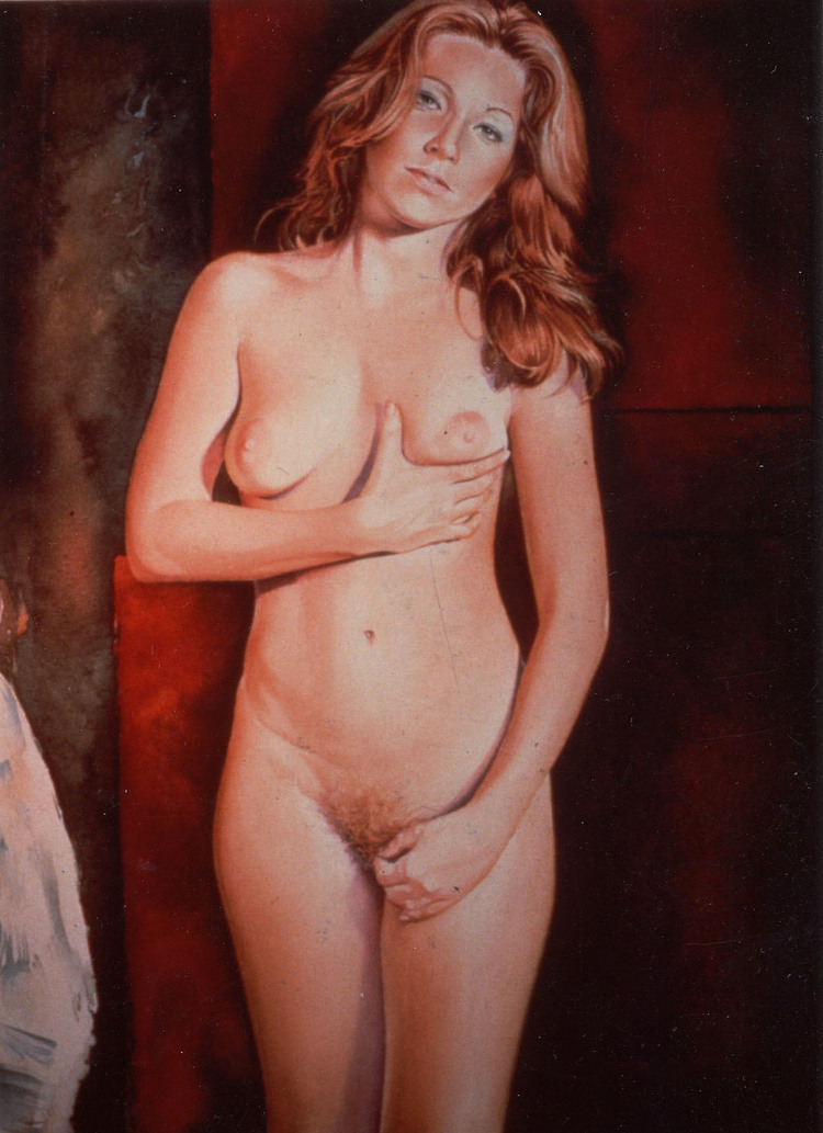 You get more salami with Modigliani , 1978, watercolour, cm 75 x 55
