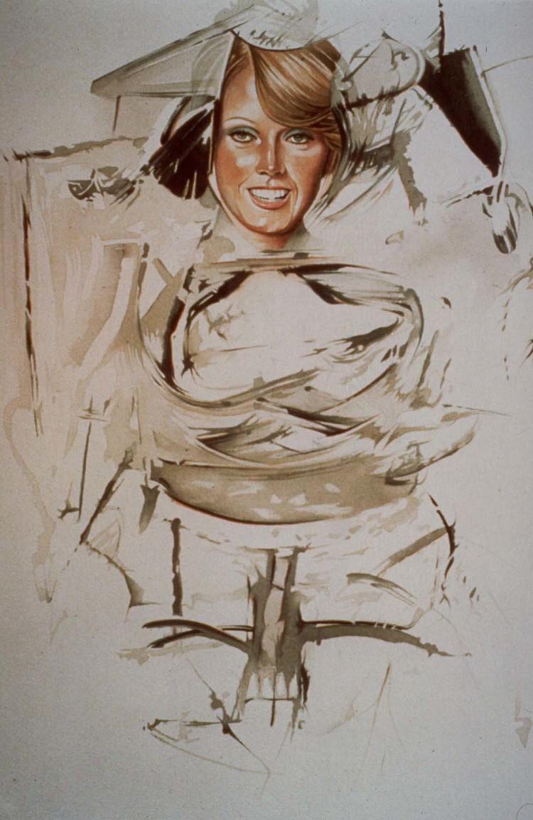 I still get a Thrill when I see Bill , 1977, watercolour, cm 75 x 55