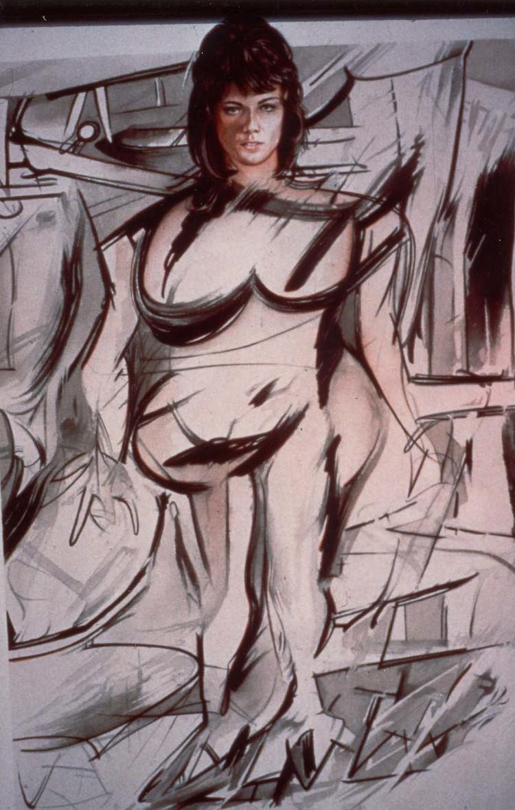 I still get a Thrill , 1977, watercolour, cm 75 x 55