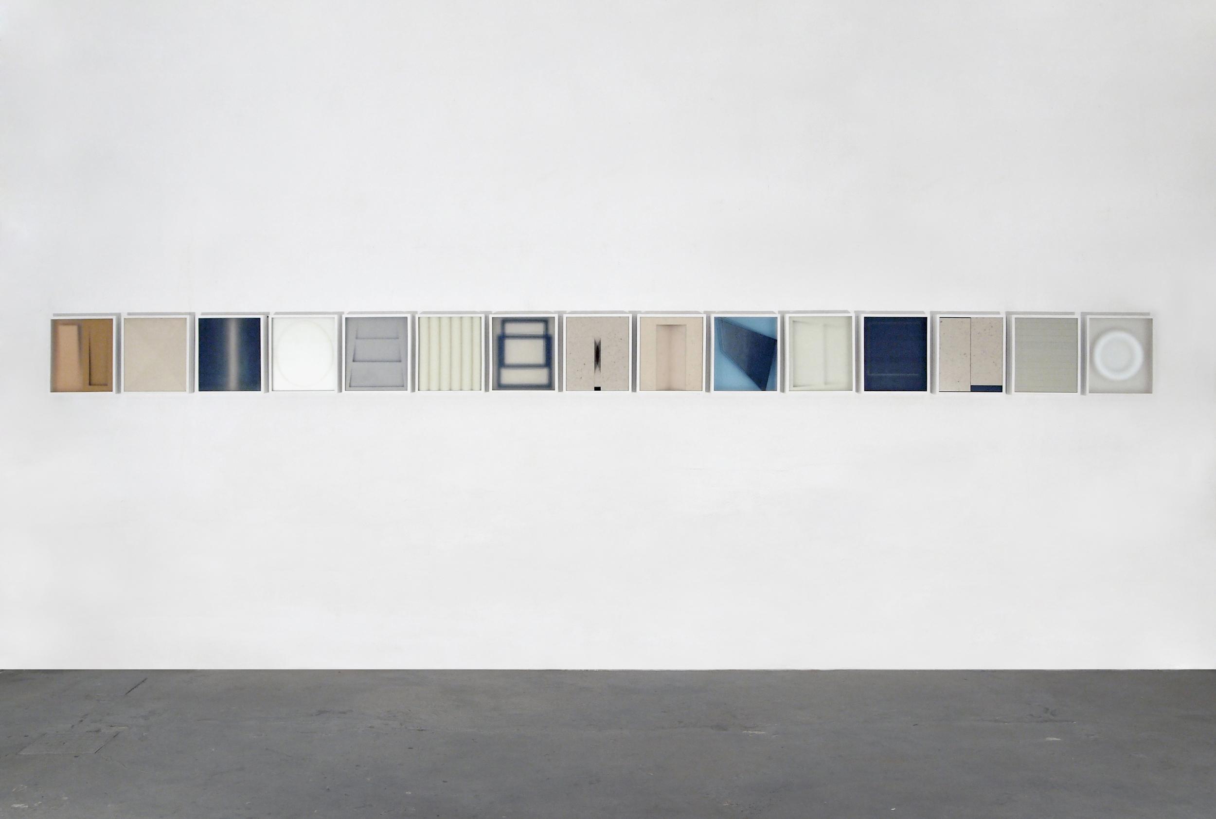 Alfredo Maiorino, Corpi fragili , 2015, tecnica mista, vetro, legno,cm 37x 32