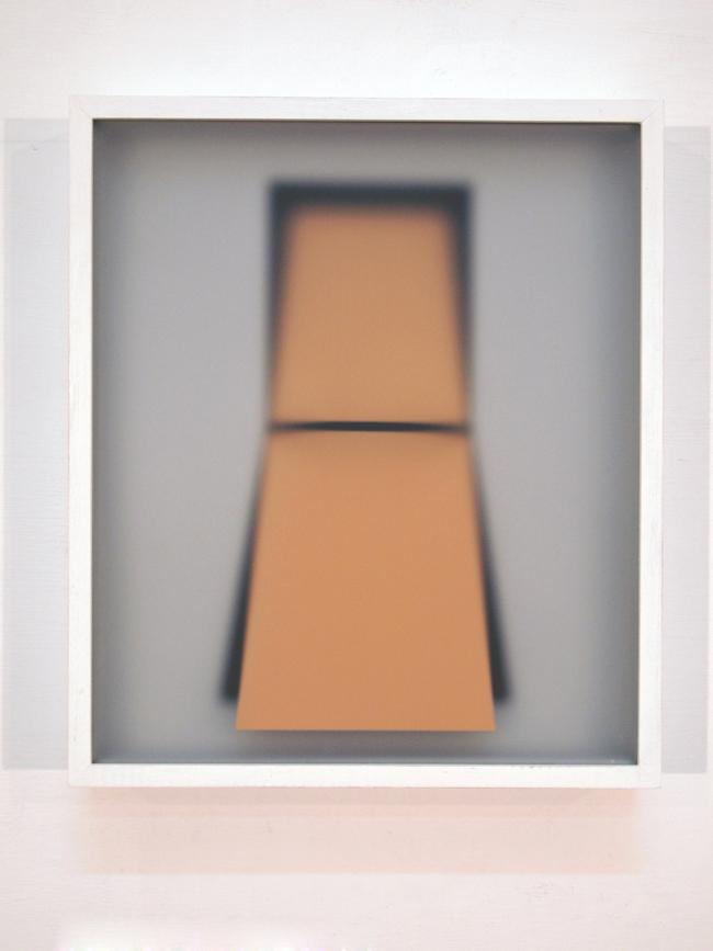 Corpi fragili ,2016,glass, paper, wood,cm 37x32