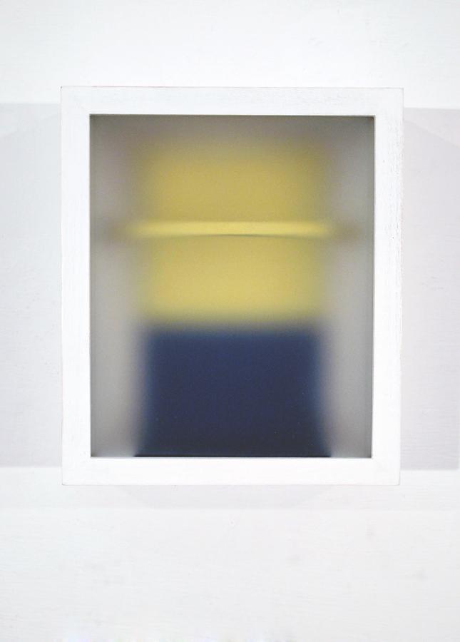 Corpi fragili ,2016,glass, paper, wood,cm 17x14