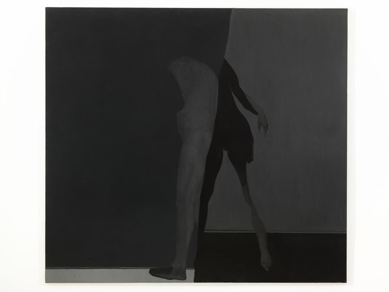 Carlo Alfano, Figura n.1 , 1984, acrilico e grafite su tela, cm 200x220