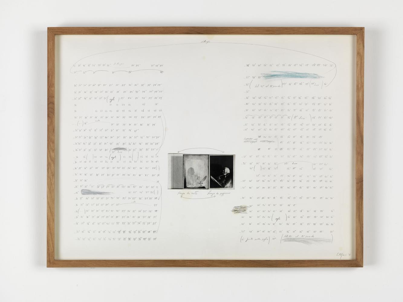 Carlo Alfano, Senza Titolo , 1983, penna, pastello, grafite e pellicola su carta,cm 48x63,8