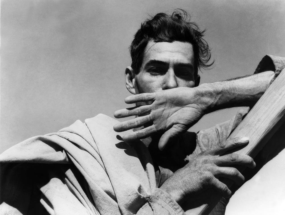 Dorothea Lange,  Migratory Cotton Picker , Eloy, Arizona, 1940, cm 53x70, framed cm 81x66