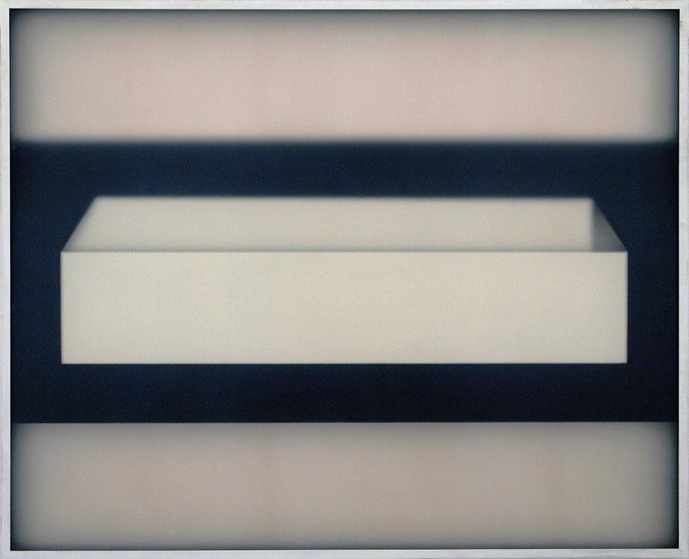 Corpi fragili , 2016, plexiglass, legno, acrilico 130,5 x 160,5 cm
