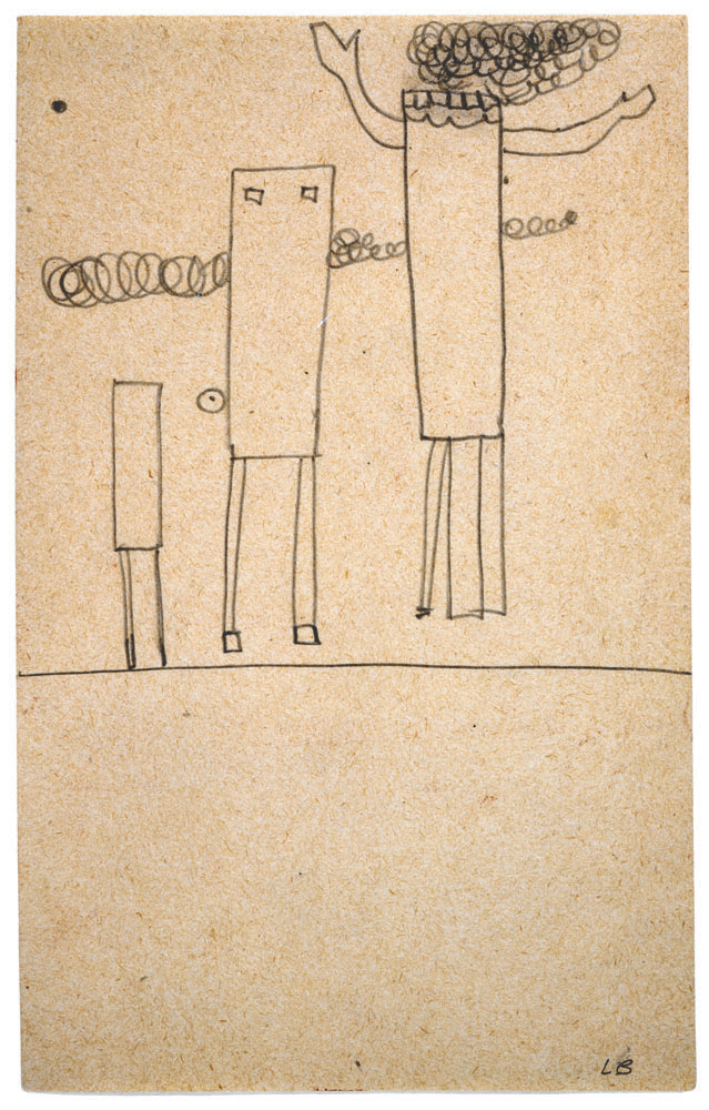 Untitled , 1947,pencil on paper,20.3 x 12.7 cm Ph Christopher Burke © The Easton Foundation/SIAE