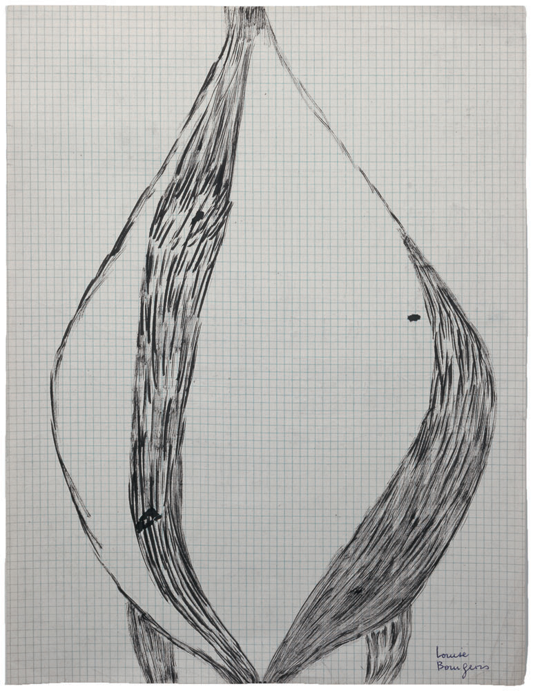 Untitled , 1950,ink, pencil and crayon on graph paper,27.9 x 21.6 cm Ph Christopher Burke © The Easton Foundation/SIAE