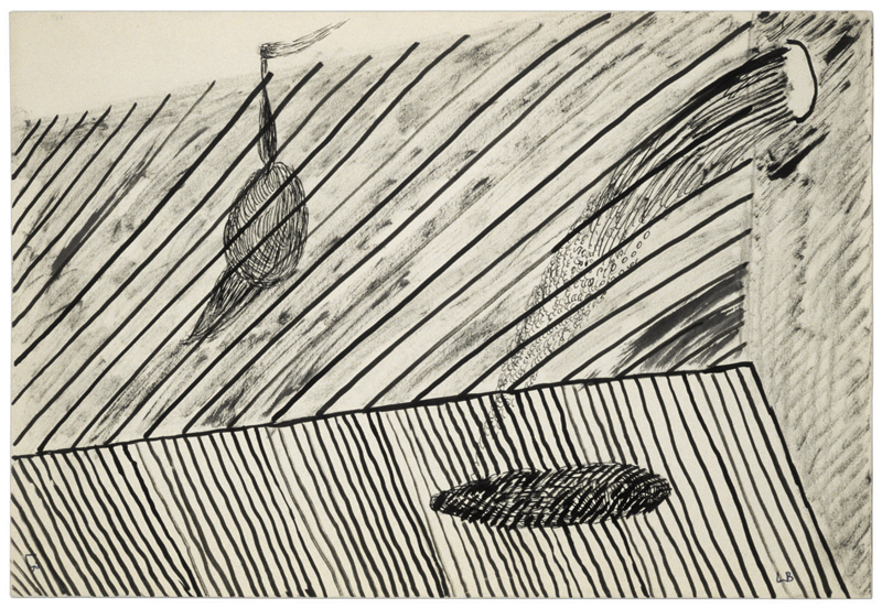 Untitled , 1951,ink and charcoal on paper,19.1 x 27.9 cm Ph Christopher Burke © The Easton Foundation/SIAE