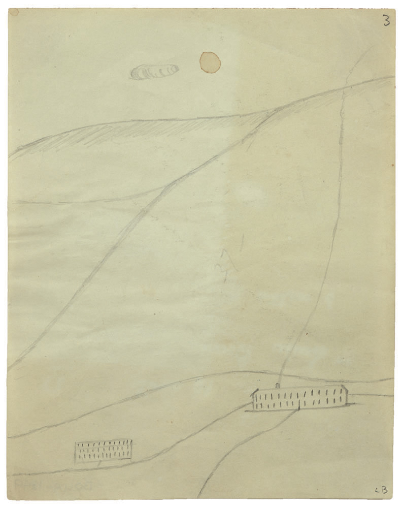 Untitled , 1940,pencil on paper,15.6 x 12.4 cm Ph Christopher Burke © The Easton Foundation/SIAE