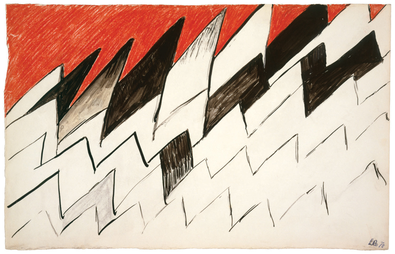 Untitled , 1970,ink, charcoal and crayon on paper,18.1 x 28.6 cm Ph Christopher Burke © The Easton Foundation/SIAE