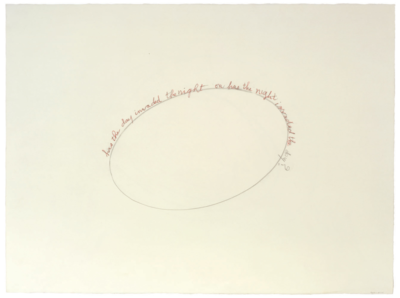 Has the Day Invaded the Night or Has the Night Invaded the Day? , 2006,double sided, verso: pencil and ink on paper,56.5 x 74.3 cm Ph Christopher Burke © The Easton Foundation/SIAE