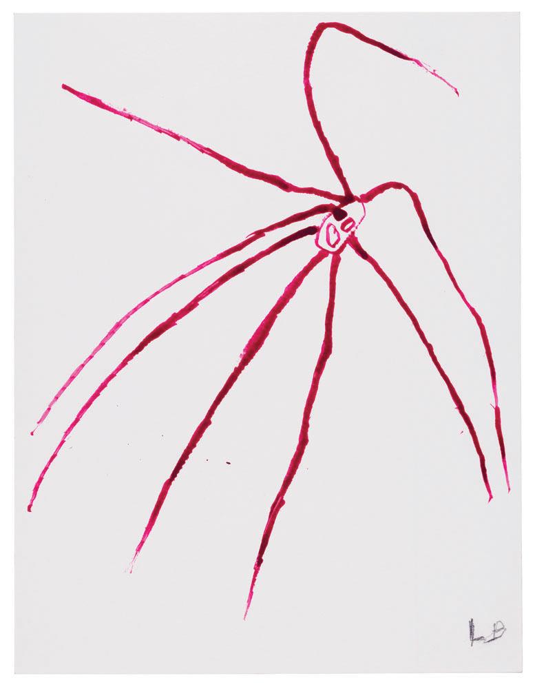 Spider , 2007,gouache on paper,29.8 x 22.9 cm Ph Christopher Burke © The Easton Foundation/SIAE