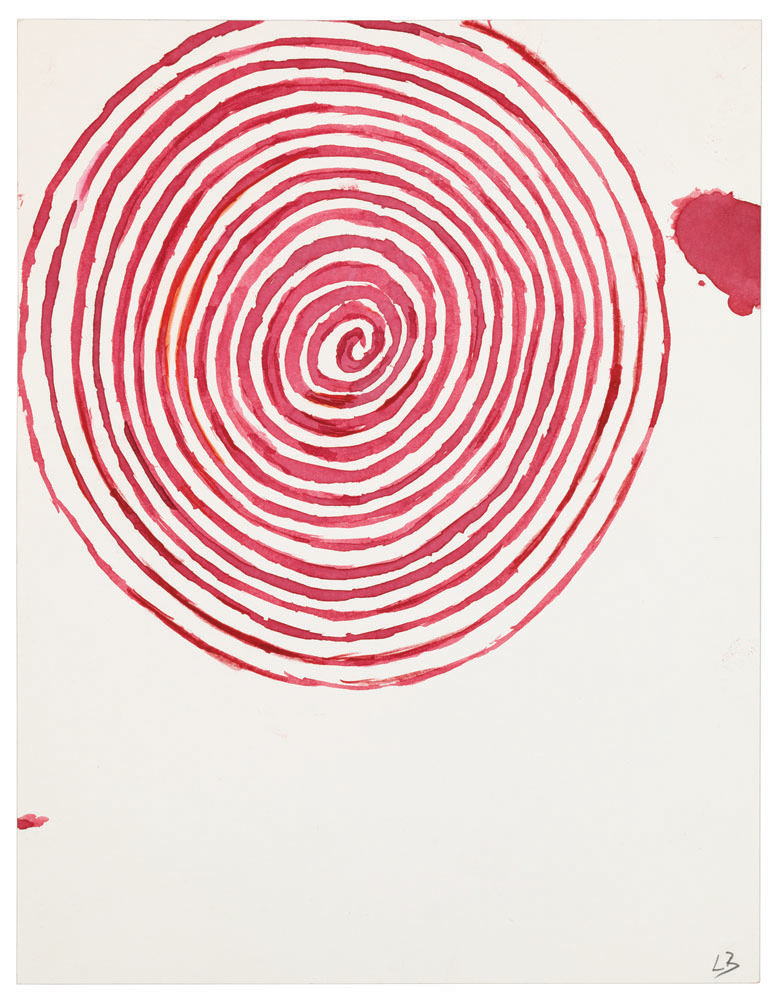Spiral,  2009,watercolor and ink on paper,27.9 x 21.6 cm Ph Christopher Burke © The Easton Foundation/SIAE