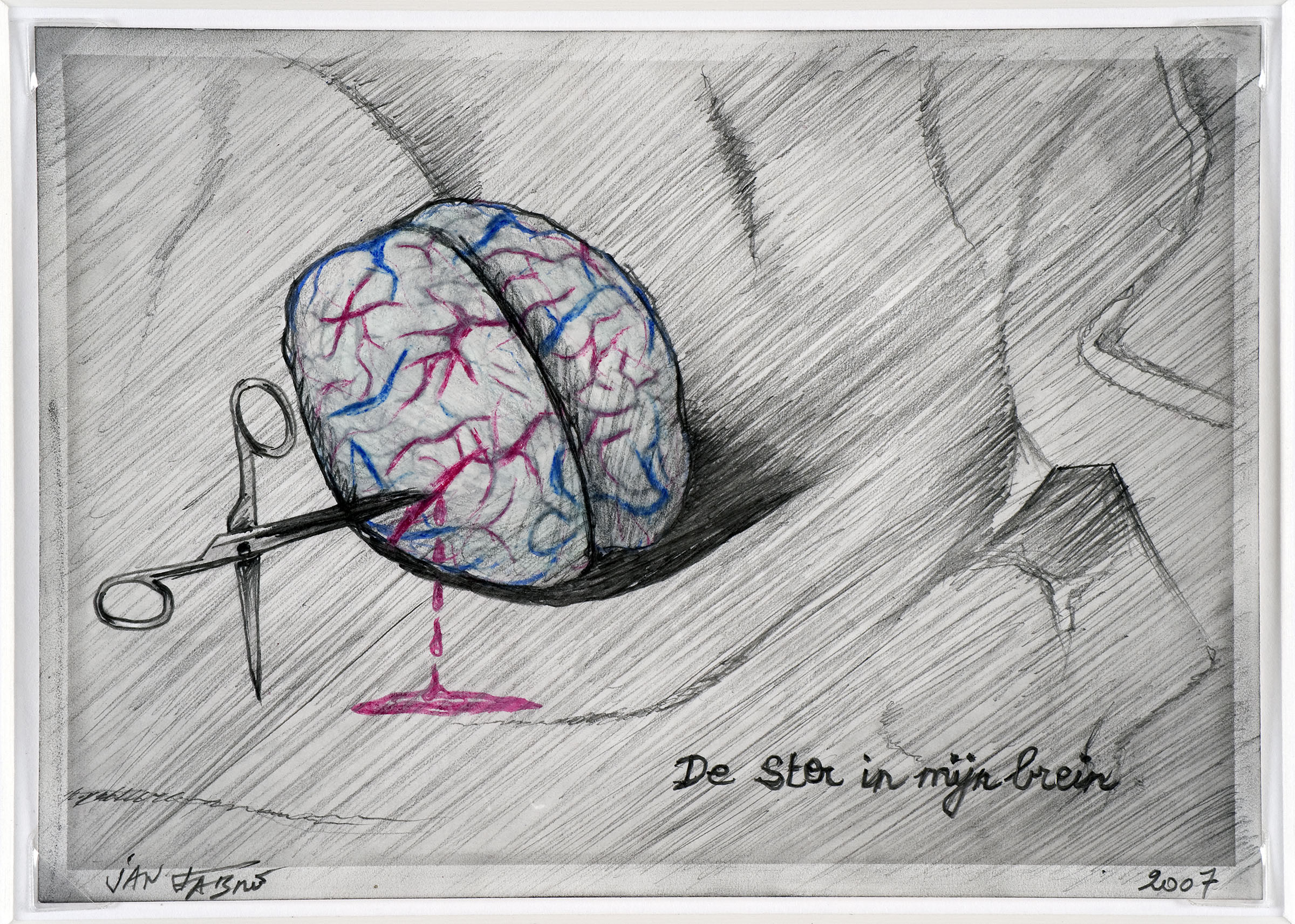 The star in my brain , 2007,HB pencil and colour pencil on photographic paper,12,7x17,7 cm Ph. Mario Gastinger ©Angelos bvba