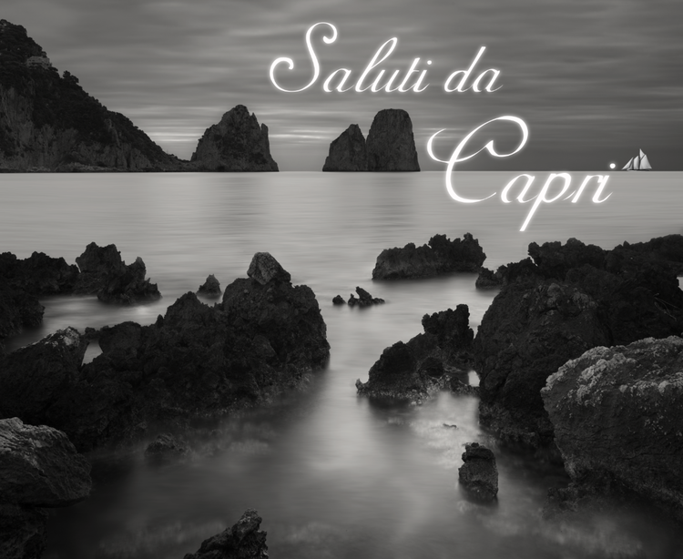 Saluti da Capri , lightbox, cm 156 x 165