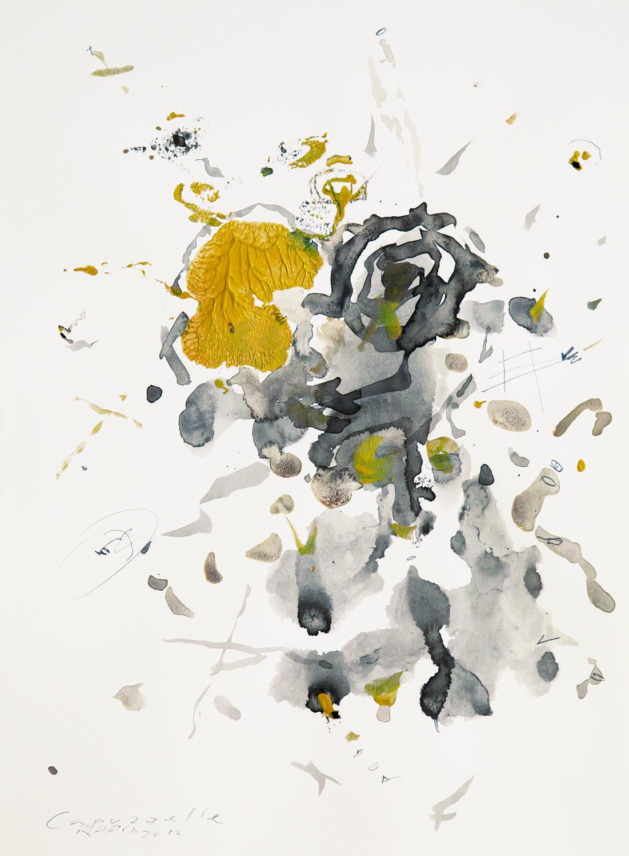 Capuzzelle , 2012, acrylic on paper, cm 31,5x24,5 (framed cm 54x48)