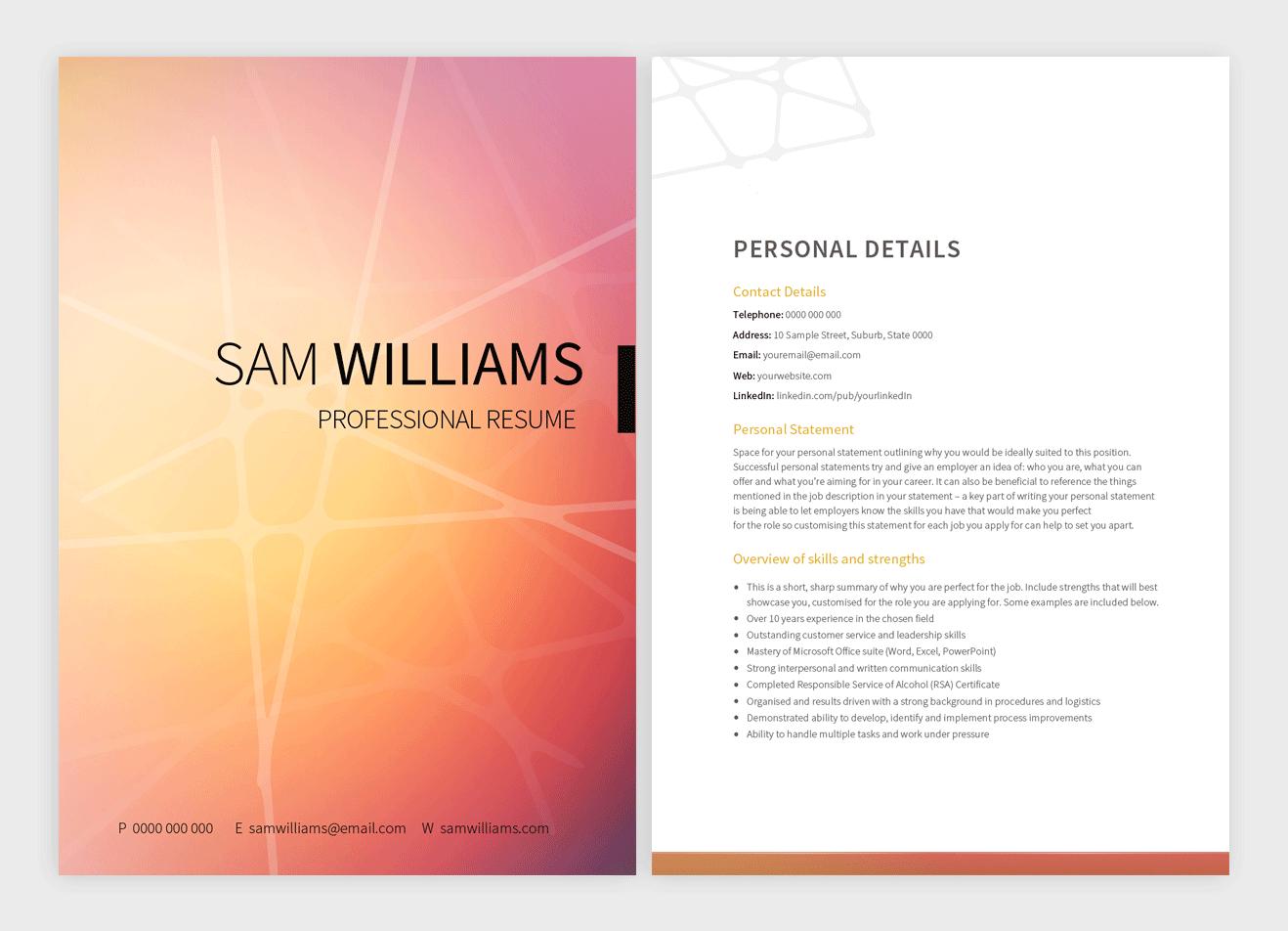 sunrise-resume-template