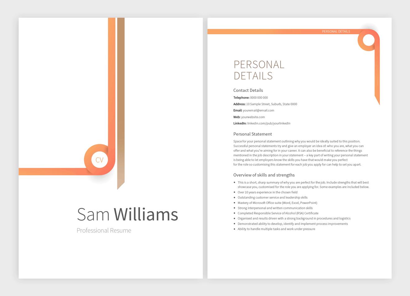 daytona-resume-template