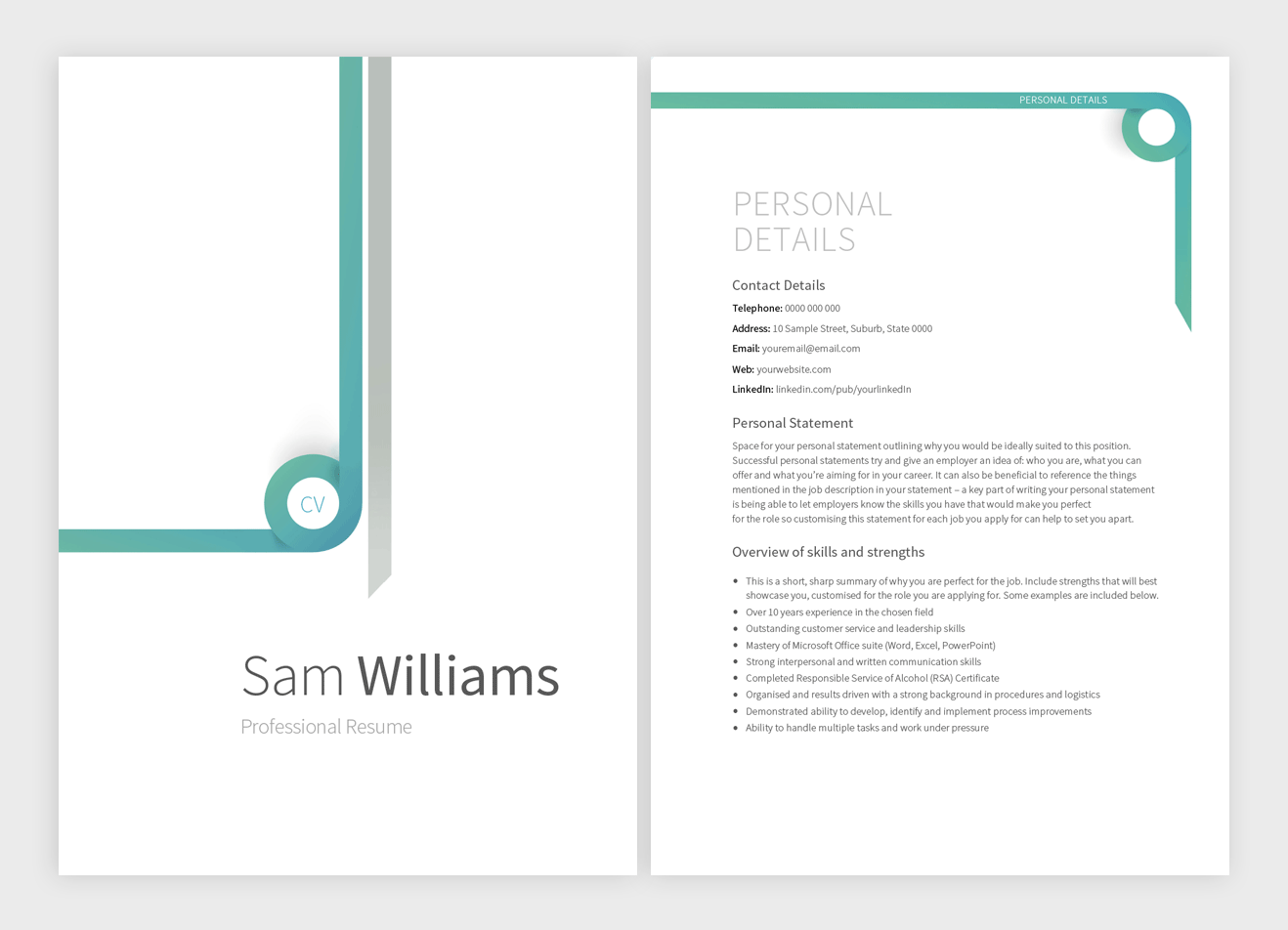 outrunner-resume-template