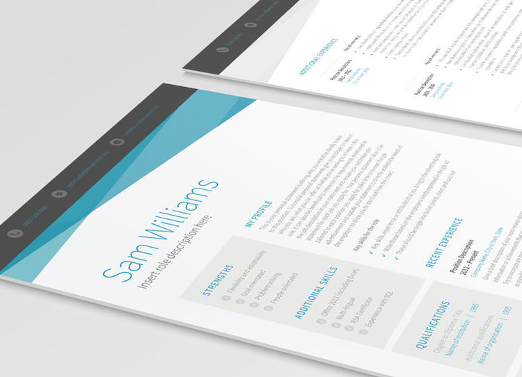 1 page resume templates