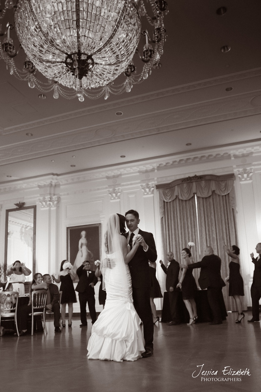 Nixon Library Wedding Photo, First Dance, East Wing