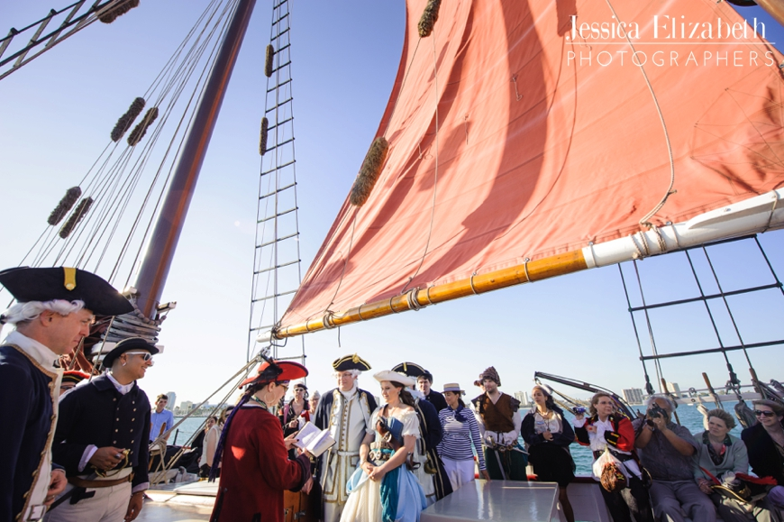 Tallship Long Beach Wedding Ceremony