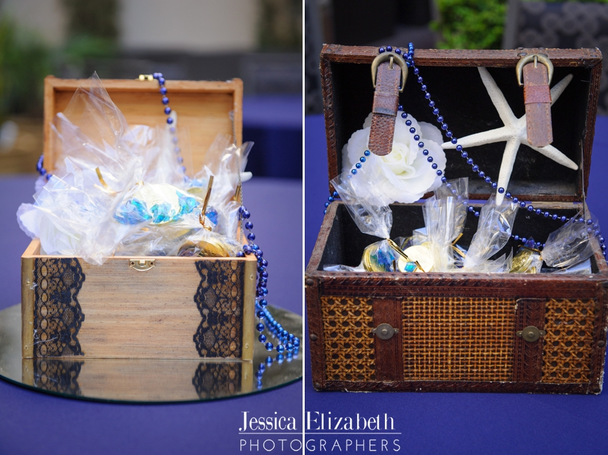 Pirate Wedding Reception Centerpiece