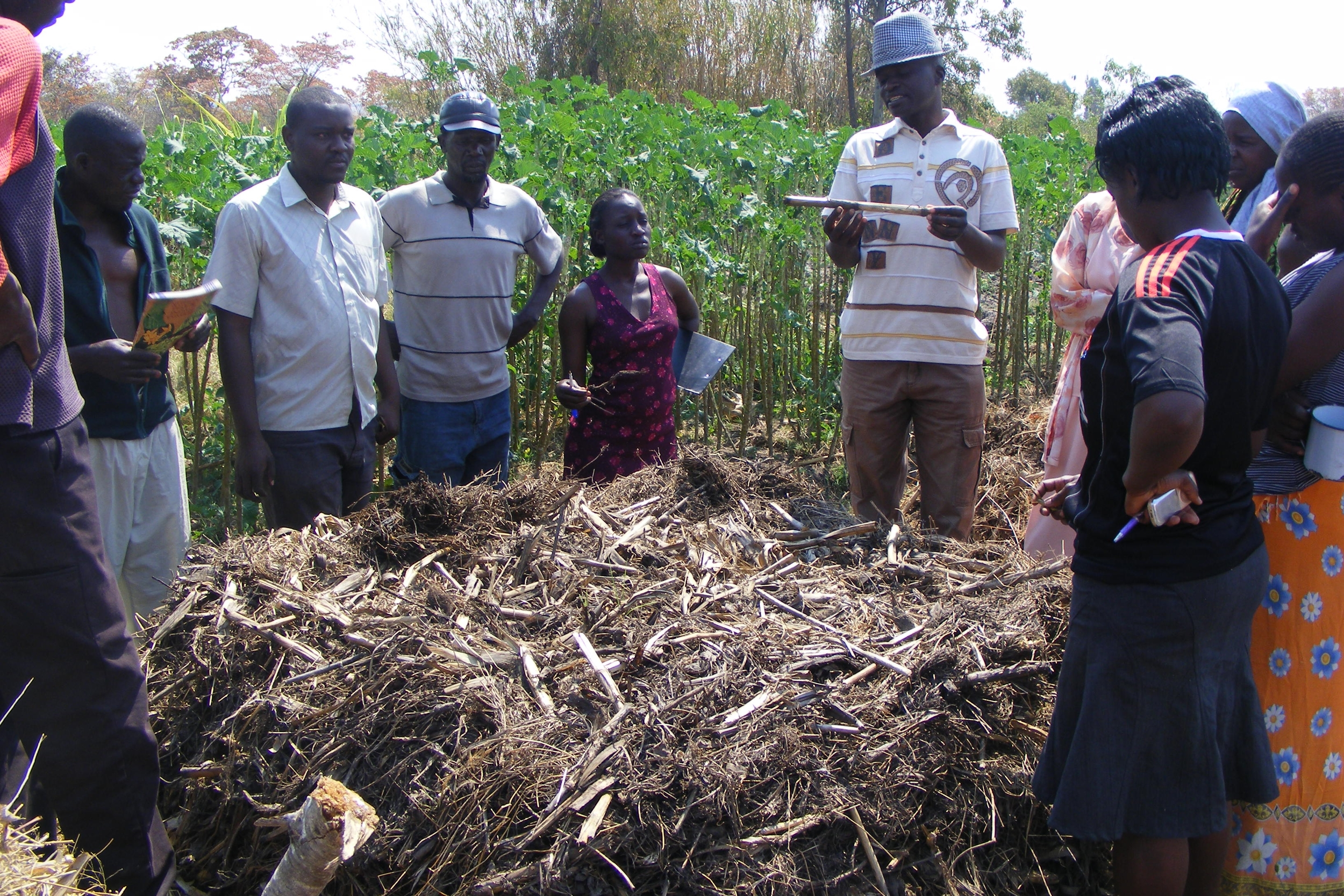 By training communities to use their natural resources efficiently ...