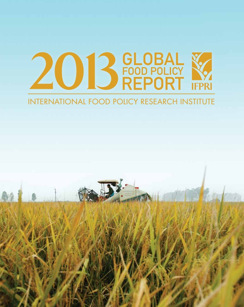2013 Global food policy report from the International Food Policy Research Institute