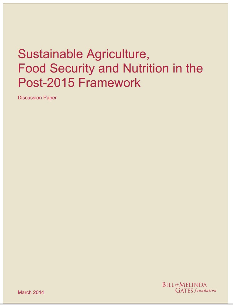The role of sustainable agriculture in promoting food security and nutrition.