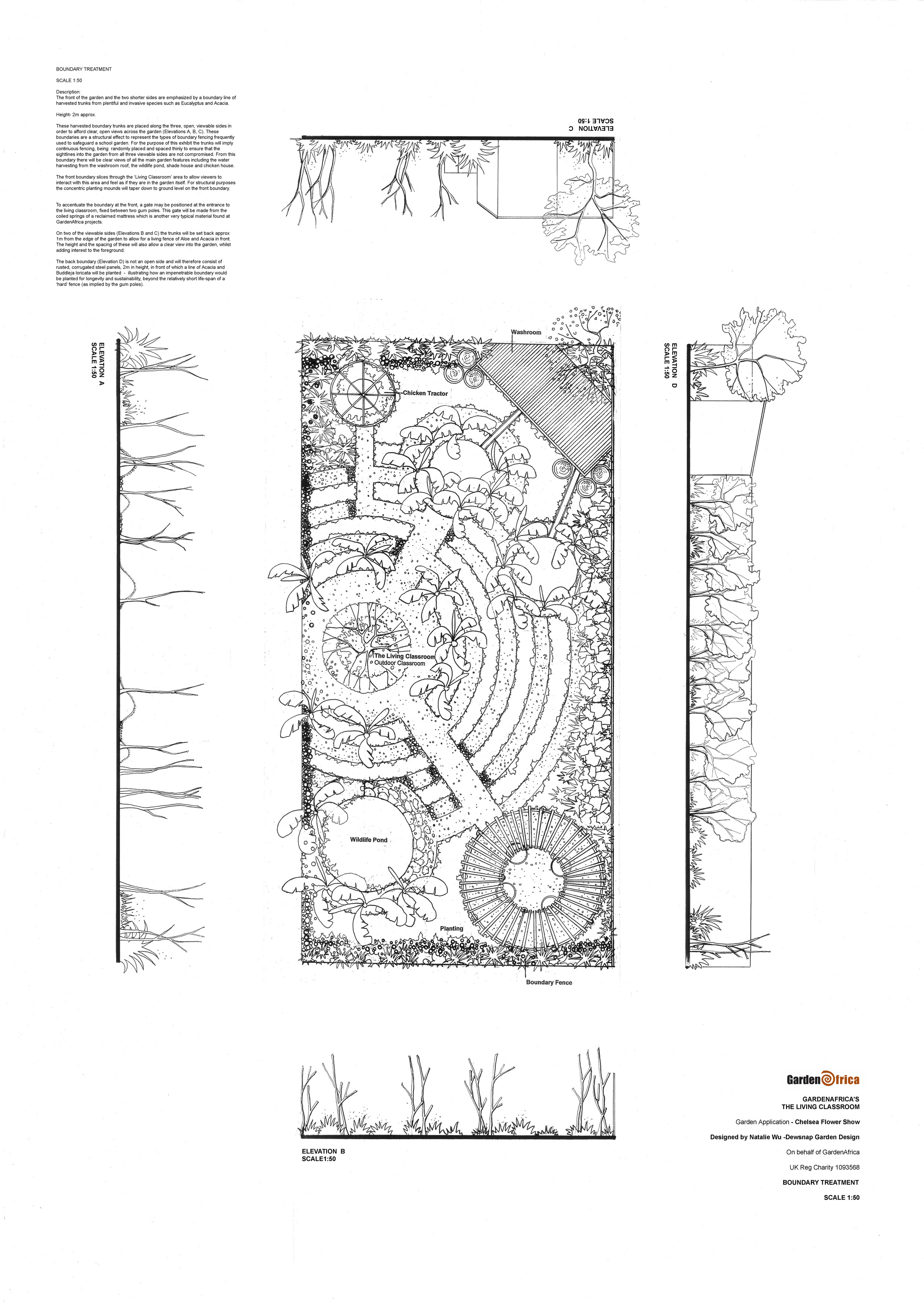 Thanks to Natalie Wu - we'd welcome your using or reproducing any part of this lovely schools garden design to encourage children in to the garden to study the wildlife this design encourages.