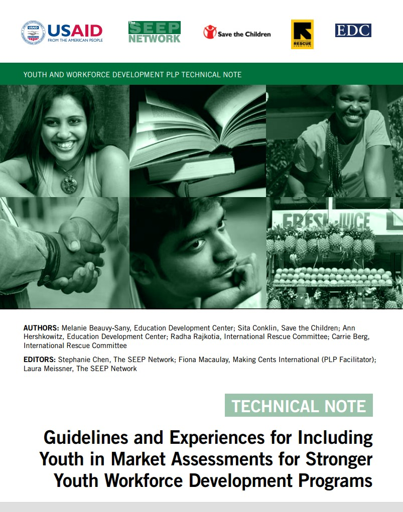 Guidelines and Experiences for Including Youth in Market Assessments for Stronger Youth Workforce Development Programs