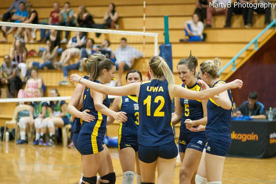UWA volleyball club super league women competing in the 2014 grand final - marty b photo