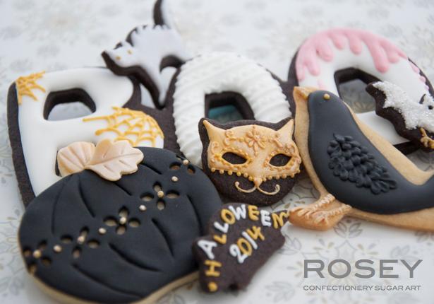 2014 デザイン  ハロウィンアイシングクッキー A  レベル:★☆☆