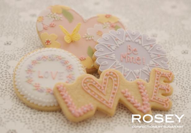 """2015デザイン ICING COOKIES """"VALENTINE"""" アイシングクッキー・デコレーション レベル:★☆☆"""