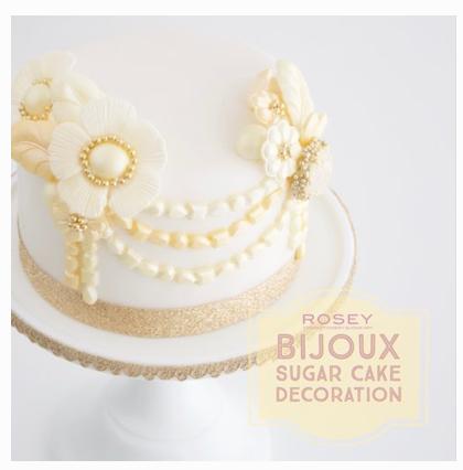 """NEWデザイン """"BIJOUX""""  全2回   レベル:★☆☆ ディスプレイ用・シュガーケーキ1台 サイズ:直径10cm × 高さ5cm のダミーを使用します。"""