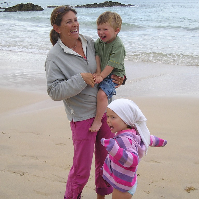 Sophie with Jojo and her god son Alfie