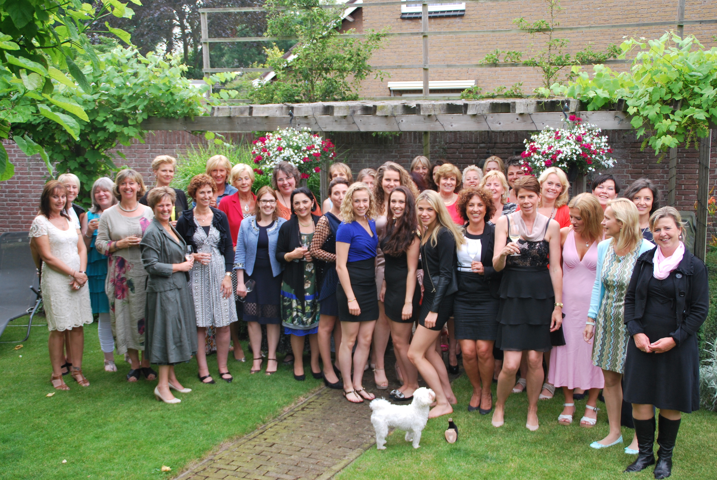 Des and Jem's friends at their dinner party in aid of Sophie's Fund