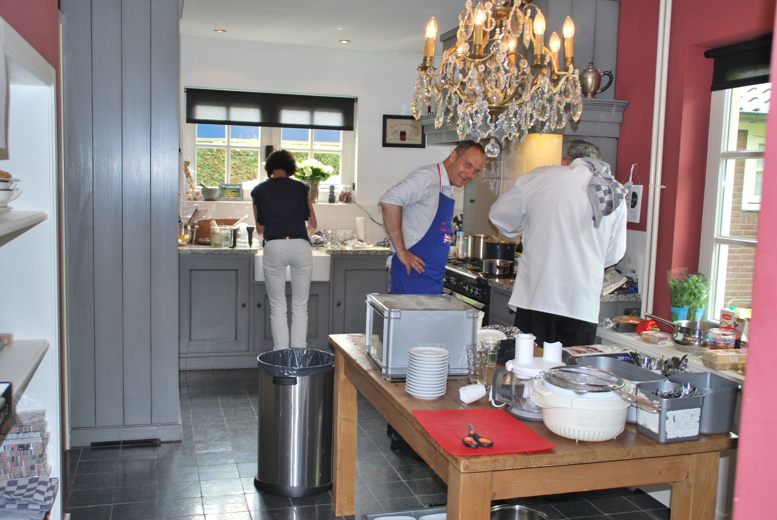 And Jem busy in the kitchen !