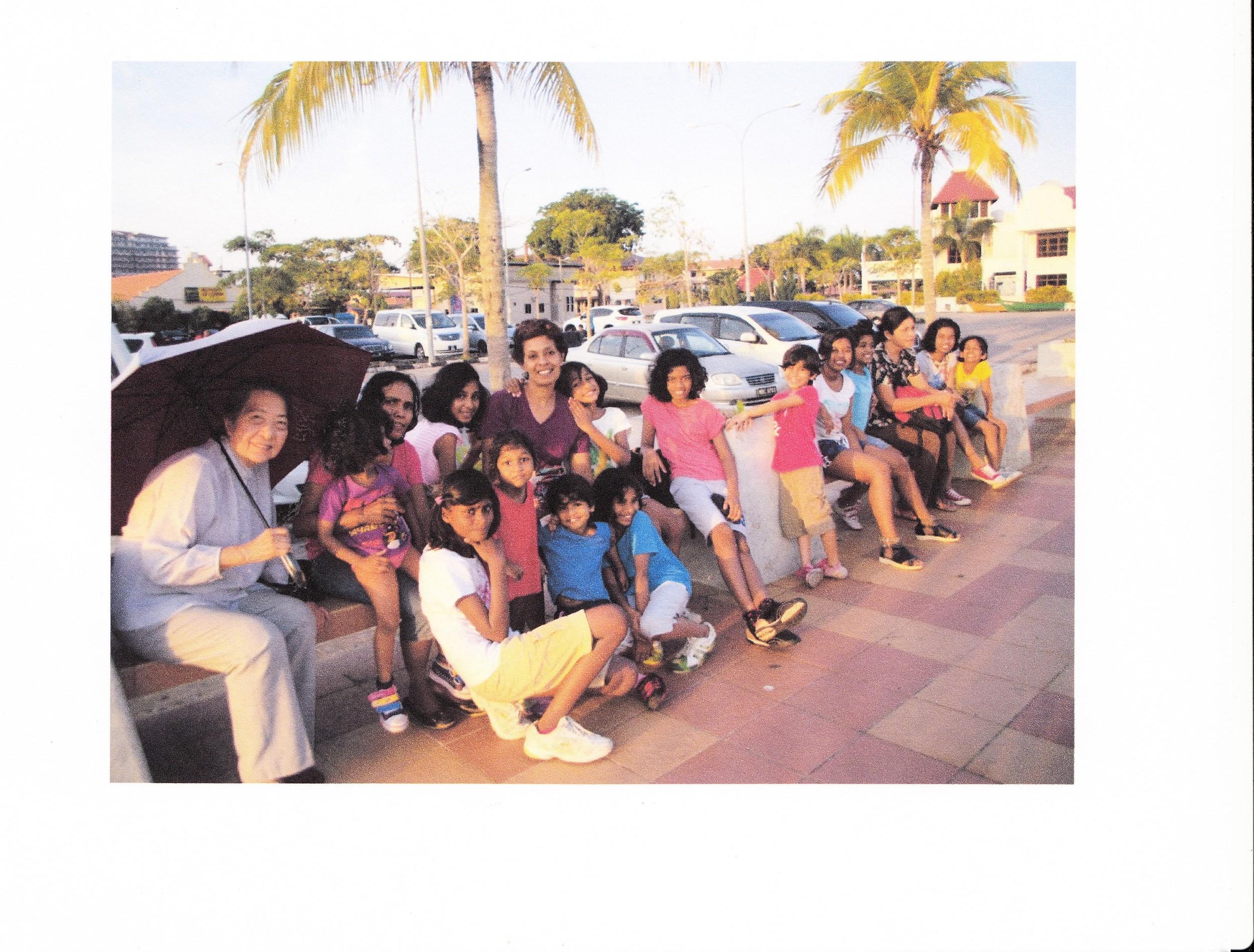 The Girls on a trip to Melaka.