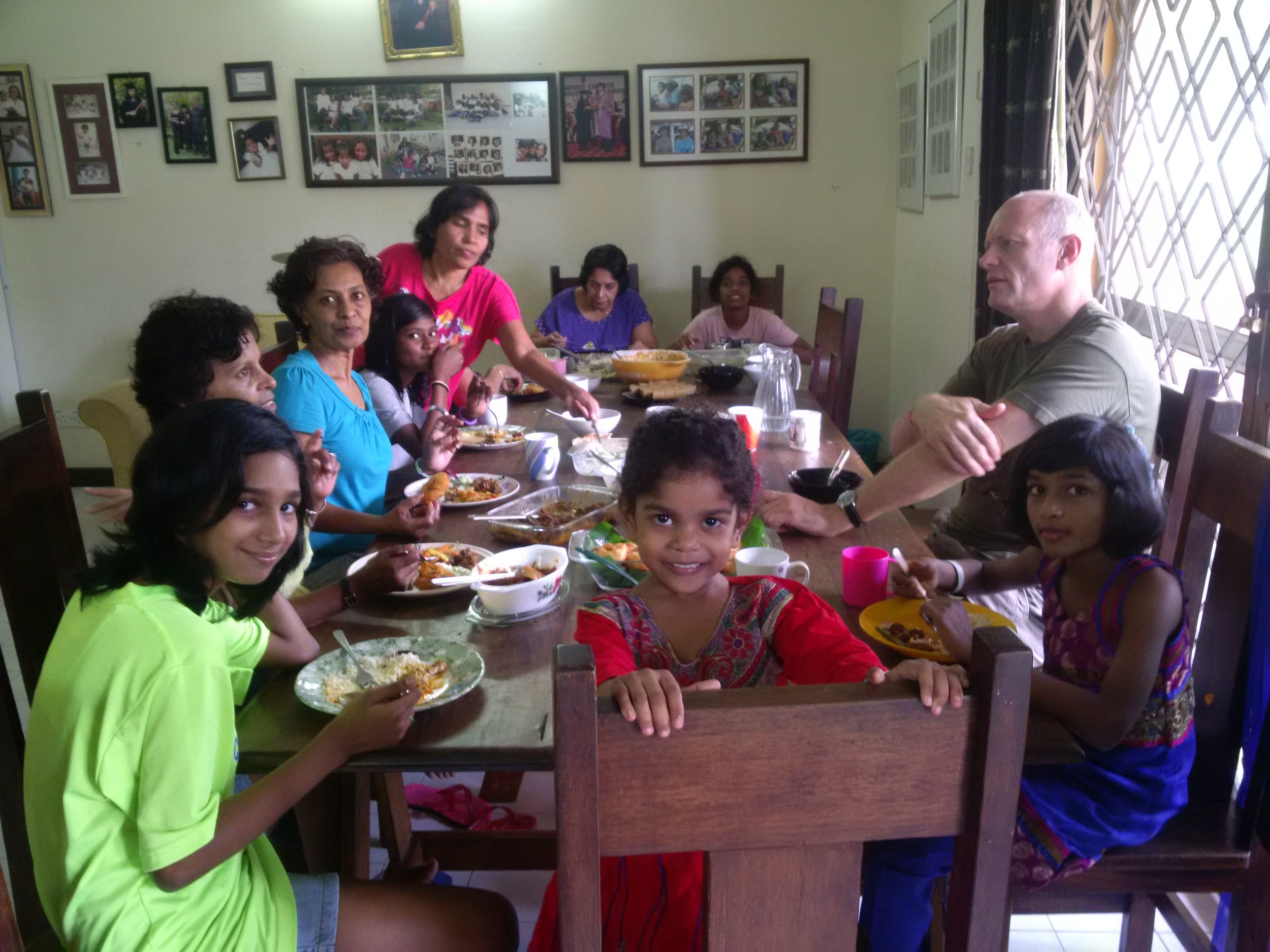 Lunchtime at the Home to celebrate Diwali